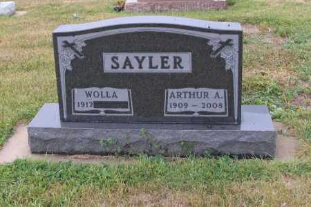 SAYLER, ARTHUR A. - McIntosh County, North Dakota | ARTHUR A. SAYLER - North Dakota Gravestone Photos