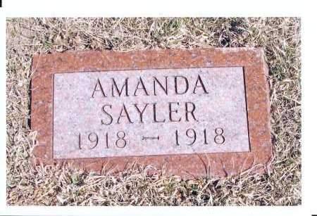 SAYLER, AMANDA - McIntosh County, North Dakota   AMANDA SAYLER - North Dakota Gravestone Photos