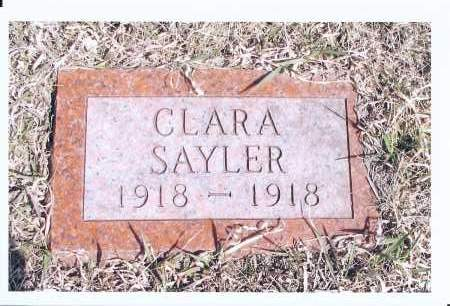 SAYLER, CLARA - McIntosh County, North Dakota   CLARA SAYLER - North Dakota Gravestone Photos
