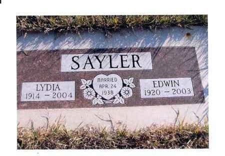 SAYLER, EDWIN - McIntosh County, North Dakota | EDWIN SAYLER - North Dakota Gravestone Photos