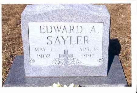 SAYLER, EDWARD A. - McIntosh County, North Dakota   EDWARD A. SAYLER - North Dakota Gravestone Photos