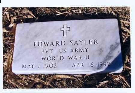 SAYLER, EDWARD - McIntosh County, North Dakota   EDWARD SAYLER - North Dakota Gravestone Photos