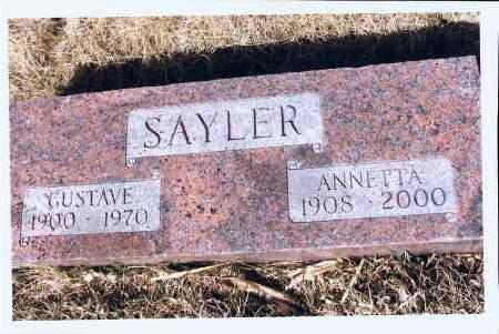 SAYLER, GUSTAVE - McIntosh County, North Dakota | GUSTAVE SAYLER - North Dakota Gravestone Photos