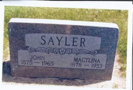 SAYLER, JOHN - McIntosh County, North Dakota | JOHN SAYLER - North Dakota Gravestone Photos