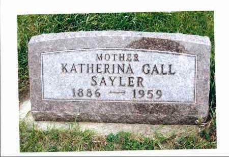 SAYLER, KATHERINA - McIntosh County, North Dakota | KATHERINA SAYLER - North Dakota Gravestone Photos