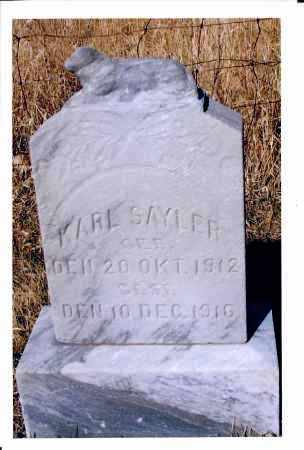SAYLER, KARL - McIntosh County, North Dakota   KARL SAYLER - North Dakota Gravestone Photos