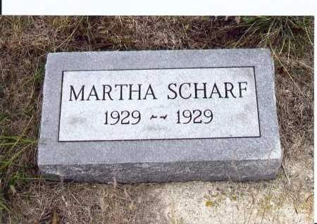SCHARF, MARTHA - McIntosh County, North Dakota | MARTHA SCHARF - North Dakota Gravestone Photos
