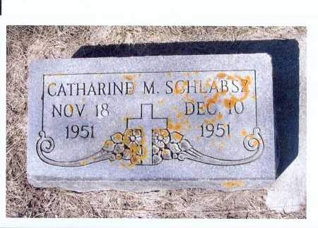 SCHLABSZ, CATHARINE M. - McIntosh County, North Dakota   CATHARINE M. SCHLABSZ - North Dakota Gravestone Photos
