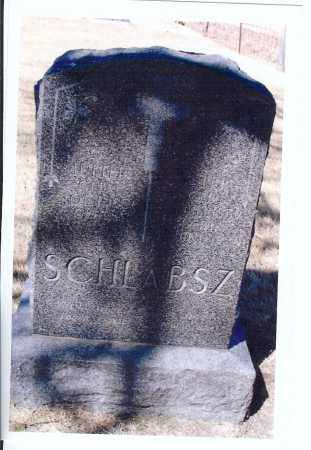 SCHLABSZ, KATHARINA - McIntosh County, North Dakota | KATHARINA SCHLABSZ - North Dakota Gravestone Photos