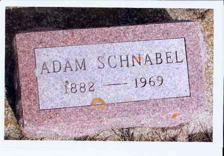 SCHNABEL, ADAM - McIntosh County, North Dakota   ADAM SCHNABEL - North Dakota Gravestone Photos