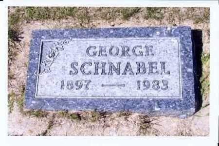 SCHNABEL, GEORGE - McIntosh County, North Dakota | GEORGE SCHNABEL - North Dakota Gravestone Photos