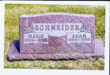 SCHNEIDER, MARIE - McIntosh County, North Dakota   MARIE SCHNEIDER - North Dakota Gravestone Photos