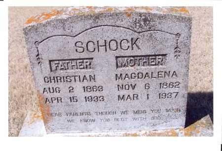 BENDER SCHOCK, MAGDALENA - McIntosh County, North Dakota | MAGDALENA BENDER SCHOCK - North Dakota Gravestone Photos
