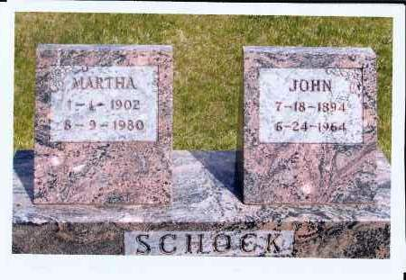 SCHOCK, MARTHA - McIntosh County, North Dakota | MARTHA SCHOCK - North Dakota Gravestone Photos
