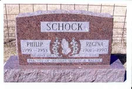 SCHOCK, REGINA - McIntosh County, North Dakota | REGINA SCHOCK - North Dakota Gravestone Photos