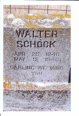 SCHOCK, WALTER - McIntosh County, North Dakota   WALTER SCHOCK - North Dakota Gravestone Photos