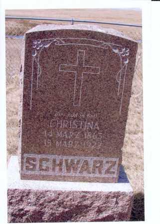 SCHWARZ, CHRISTINA - McIntosh County, North Dakota | CHRISTINA SCHWARZ - North Dakota Gravestone Photos