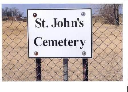 ST. JOHN'S CEMETERY, GATE MARKER T-129, R-68, SEC. 22 - McIntosh County, North Dakota | GATE MARKER T-129, R-68, SEC. 22 ST. JOHN'S CEMETERY - North Dakota Gravestone Photos