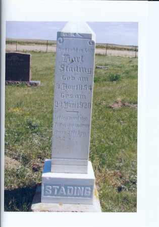 STADING, KARL - McIntosh County, North Dakota   KARL STADING - North Dakota Gravestone Photos