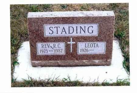 STADING, R. C. REV. - McIntosh County, North Dakota   R. C. REV. STADING - North Dakota Gravestone Photos