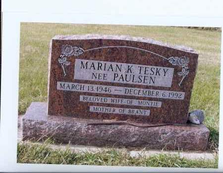 PAULSEN TESKY, MARIAN K. - McIntosh County, North Dakota | MARIAN K. PAULSEN TESKY - North Dakota Gravestone Photos