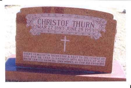 THURN, CHRISTOF - McIntosh County, North Dakota | CHRISTOF THURN - North Dakota Gravestone Photos
