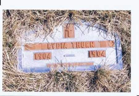 THURN, LYDIA - McIntosh County, North Dakota | LYDIA THURN - North Dakota Gravestone Photos