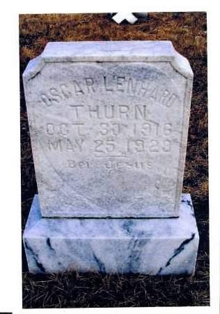 THURN, OSCAR LENHARD - McIntosh County, North Dakota | OSCAR LENHARD THURN - North Dakota Gravestone Photos
