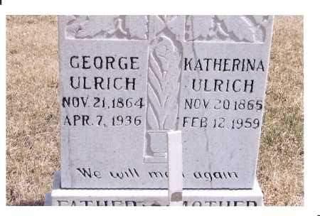 ULRICH, GEORGE - McIntosh County, North Dakota | GEORGE ULRICH - North Dakota Gravestone Photos