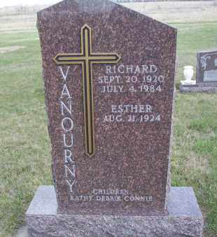 SCHAUER VANOURNY, ESTHER - McIntosh County, North Dakota   ESTHER SCHAUER VANOURNY - North Dakota Gravestone Photos