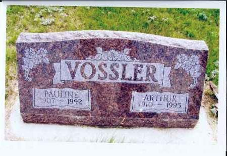 VOSSLER, ARTHUR - McIntosh County, North Dakota | ARTHUR VOSSLER - North Dakota Gravestone Photos