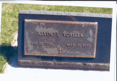VOSSLER, ALVIN E. - McIntosh County, North Dakota | ALVIN E. VOSSLER - North Dakota Gravestone Photos
