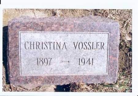 VOSSLER, CHRISTINA - McIntosh County, North Dakota | CHRISTINA VOSSLER - North Dakota Gravestone Photos