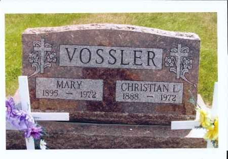 VOSSLER, CHRISTIAN L. - McIntosh County, North Dakota | CHRISTIAN L. VOSSLER - North Dakota Gravestone Photos