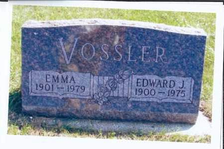 VOSSLER, EDWARD J. - McIntosh County, North Dakota | EDWARD J. VOSSLER - North Dakota Gravestone Photos
