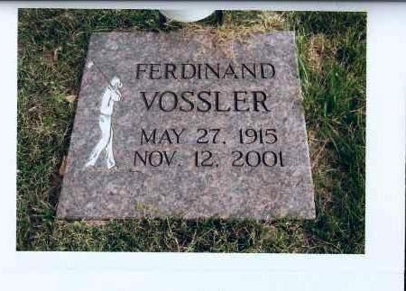 VOSSLER, FERDINAND - McIntosh County, North Dakota | FERDINAND VOSSLER - North Dakota Gravestone Photos