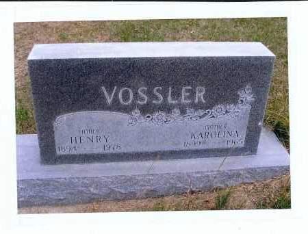 VOSSLER, HENRY - McIntosh County, North Dakota | HENRY VOSSLER - North Dakota Gravestone Photos