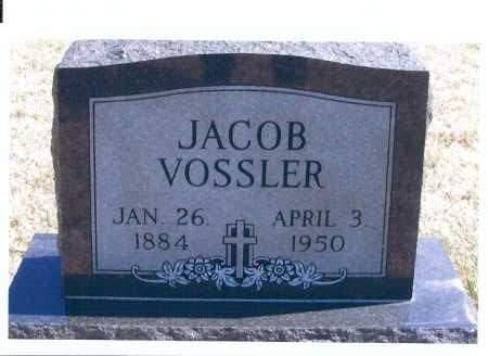 VOSSLER, JACOB - McIntosh County, North Dakota   JACOB VOSSLER - North Dakota Gravestone Photos