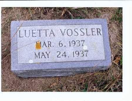 VOSSLER, LUETTA - McIntosh County, North Dakota   LUETTA VOSSLER - North Dakota Gravestone Photos