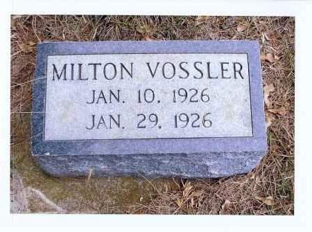 VOSSLER, MILTON - McIntosh County, North Dakota | MILTON VOSSLER - North Dakota Gravestone Photos