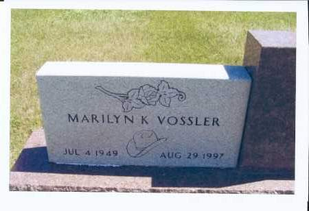 VOSSLER, MARILYN K. - McIntosh County, North Dakota   MARILYN K. VOSSLER - North Dakota Gravestone Photos