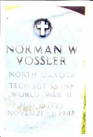 VOSSLER, NORMAN W. - McIntosh County, North Dakota | NORMAN W. VOSSLER - North Dakota Gravestone Photos