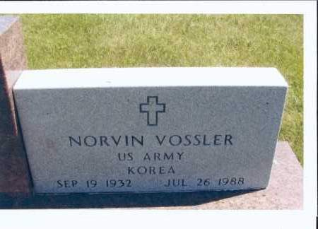 VOSSLER, NORVIN - McIntosh County, North Dakota | NORVIN VOSSLER - North Dakota Gravestone Photos