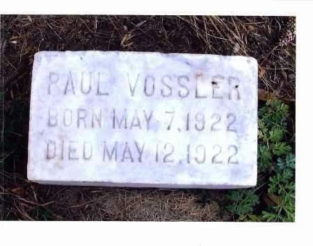 VOSSLER, PAUL - McIntosh County, North Dakota   PAUL VOSSLER - North Dakota Gravestone Photos