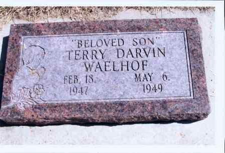 WAELHOF, TERRY DARVIN - McIntosh County, North Dakota | TERRY DARVIN WAELHOF - North Dakota Gravestone Photos