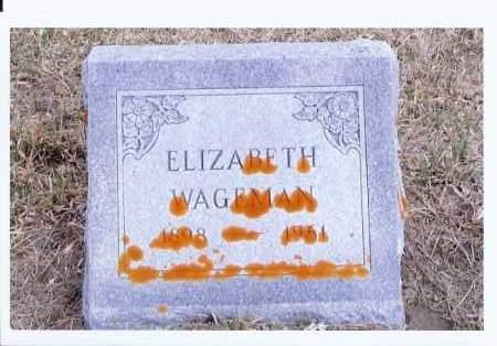 WAGEMAN, ELIZABETH - McIntosh County, North Dakota | ELIZABETH WAGEMAN - North Dakota Gravestone Photos