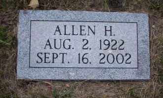 HUGO WAHL, ALLEN - McIntosh County, North Dakota | ALLEN HUGO WAHL - North Dakota Gravestone Photos