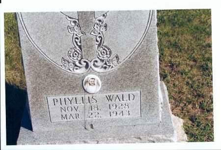 WALD, PHYLLIS - McIntosh County, North Dakota | PHYLLIS WALD - North Dakota Gravestone Photos