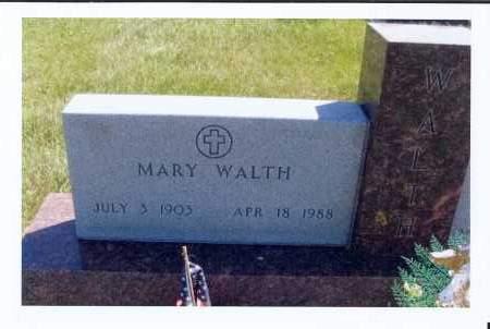 WALTH, MARY - McIntosh County, North Dakota   MARY WALTH - North Dakota Gravestone Photos