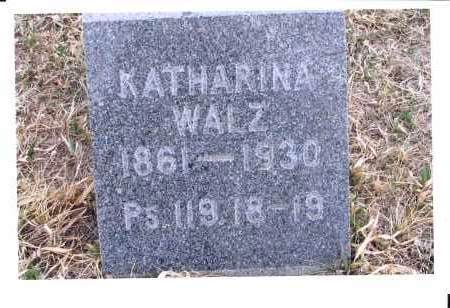 BECKER WALZ, KATHARINA - McIntosh County, North Dakota | KATHARINA BECKER WALZ - North Dakota Gravestone Photos